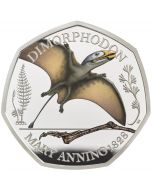2021 8g Great Britain The Mary Anning Collection -   Dimorphodon  .925 Silver Proof Colour Coin