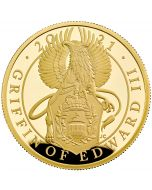 2021 1 oz Great Britain Queen's Beasts - The Griffin Of Edward III.9999 Gold Proof Coin
