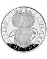 2021 1 Kg Great Britain Queen's Beasts - The Griffin Of Edward III.999 Silver Proof Coin