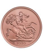 2020 7.98 gram Great Britain The Sovereign .9167 Gold Coin BU (in Box)