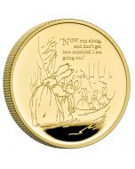 2021 1oz Great Britain Beatrix Potter -  The Tale Of Peter Rabbit .9999 Gold Proof Coin