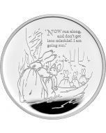 2021 1oz Great Britain Beatrix Potter -  The Tale Of Peter Rabbit .999 Silver Proof Coin