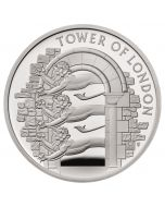 2020 56.56 gram Great Britain The Tower of London - The Royal Menagerie .925 Silver Proof Piedfort Coin