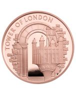 2020 39.94 gram Great Britain The Tower of London - The White Tower .9167 Gold Proof Coin