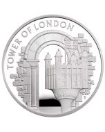 2020 28.28 gram Great Britain The Tower of London - The White Tower .925 Silver Proof Coin