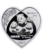 2017 30 gram China Mother's Day Panda .999 Silver Proof Round