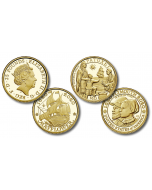 2020 1/4oz Great Britain The 400th Anniversary of the Voyage of the Mayflower .9999 Gold Proof Coin 2 Coin Set