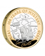 2020 24 gram Great Britain Agatha Christie - 100 Years of Mystery .925 Silver Proof  Piedfort Coin