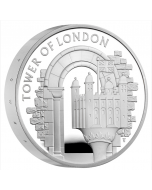 2020 56.56 gram Great Britain The Tower of London - The White Tower .925 Silver Proof Piedfort Coin