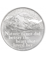 2020 28.28 gram Great Britain The 250th Anniversary of the Birth of William Wordsworth .925 Silver Proof Coin