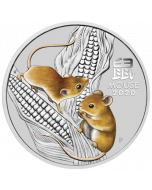 2020 1 oz Australia Lunar Series III Year of the Mouse .9999 Silver Coloured Coin