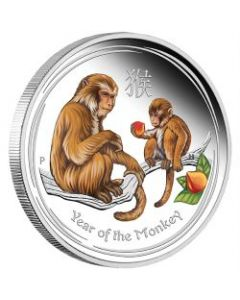 2016 1/2oz Australia Lunar Series II - Year of the Monkey Coloured .999 Silver Proof Coin