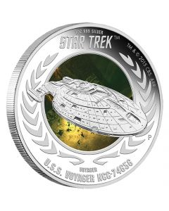 Star Trek: Voyager - U.S.S. Voyager NCC-74656 1oz Silver Proof Coin