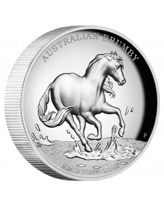 2020 2 oz Australia Brumby .9999 Silver High Relief Proof Coin