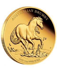 2021 1 oz Australia Brumby .9999 Gold Proof Coin