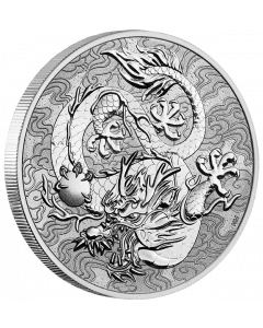 2021 1 oz Australia Chinese Myths and Legends - Dragon 9999 Silver BU Coin