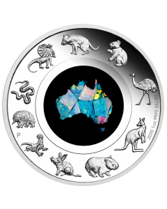 2020 1 oz Australia Opal Great Southern Land .9999 Silver Proof Coin