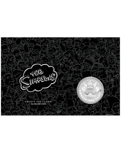 2020 1 oz Tuvalu The Simpsons - Krusty The Clown .9999 Silver BU Coin in Card