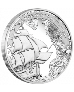 2020 1 oz Australia Voyage Of Discovery Endeavour 1770-2020 .9999 Silver Proof Coin