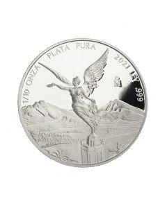2021 1/10 oz Mexico Libertad .999 Silver Proof Coin (Free US Shipping 99USD+)