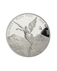 2021 1/2 oz Mexico Libertad .999 Silver Proof Coin (Free US Shipping 99USD+)