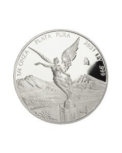 2021 1/4 oz Mexico Libertad .999 Silver Proof Coin (Free US Shipping 99USD+)