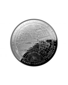 2019 1 oz Australia 1626 A New Map of the World 999 Silver Proof Domed Coin