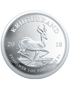 2018 1 oz South Africa Krugerrand .999 Silver Proof Coin (Spotted)