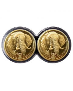 2021 1/4 oz South Africa Big Five Series II - Elephant .9999 Gold Proof 2 Coin Set