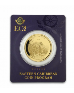 2020 1 oz St. Kitts & Nevis The Siege of Brimstone Hill .9999 Gold Coin
