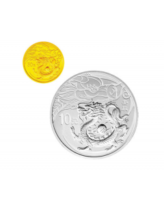 2012 China Year of Dragon Gold and Silver Proof 2 Coin Set