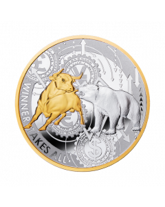 2021 17.5g Cameroon Winner Takes All .999 Silver Proof Coin