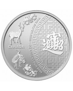 2014 1 oz Canada Five Blessings 9999 Silver Coin (sealed) - Spotted/Toned