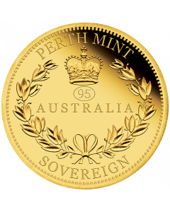 2021 7.988g Perth Australia Sovereign .9167 Gold Proof Coin