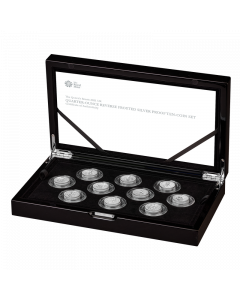 2021 1/4oz Great Britain Queen's Beasts Completer .999 Silver Proof 10 coin set