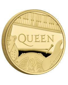 2020 1 oz Great Britain Music Legends - Queen .9999 Gold Proof Coin