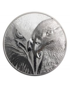 2021 1kg Mongolia Majestic Eagle .999 Silver Proof Coin