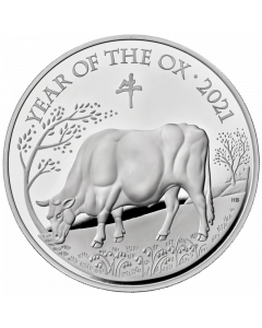 2021 1 Kg Great Britain Lunar Series Year of the Ox .999 Silver Proof Coin