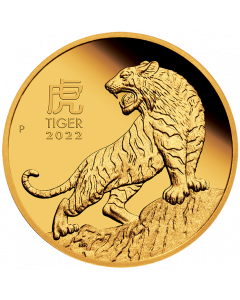 2022 1 oz Australia Lunar Series III - Year of the Tiger .9999 Gold Proof Coin