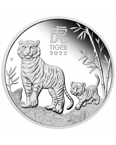 2022 1oz Australia Lunar Series III - Year of the Tiger .9999 Silver Proof Coin