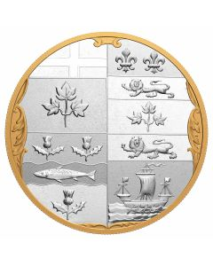 2020 10oz Canada Archival Treasures - The Armorial Bearings Of The Dominion of Canada .9999 Silver Proof Coin
