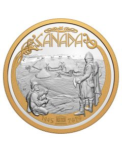 2020 1/2 Kg Canada 75th Anniversary Of UNESCO .9999 Silver with selective Gold Plating Proof Coin