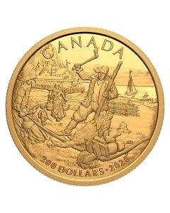 2020 15.43 gram Canada Early Canadian History: New France .9999 Gold Proof Coin