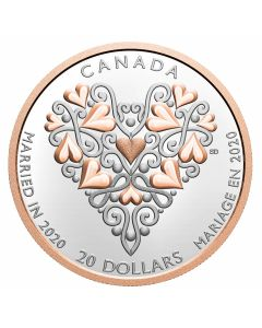 2020 1 oz Canada Best Wishes On Your Wedding Day .9999 Silver Proof Coin
