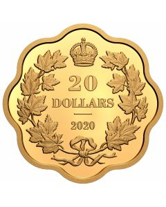 2020 26.51g Canada Iconic Maple Leaves .9999 Silver Proof Coin