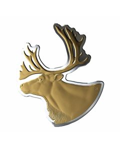 2020 100 gram Canada Real Shapes - The Caribou 9999 Silver Proof Coin