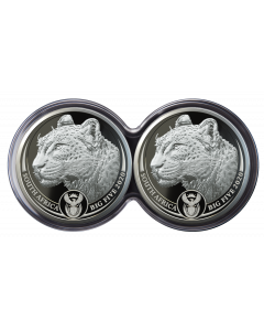 2020 1 oz South Africa Big Five Leopard .999 Silver Proof 2 Coin Set