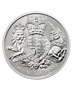 2020 1oz Great Britain The Royal Arms .999 Silver Coin