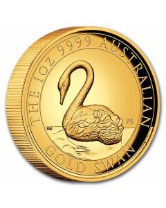 2021 1 oz Australia Swan .9999 Gold High Relief Proof Coin