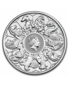 2021 2 oz Great Britain Queen's Beasts - Completer .9999 Silver BU Coin